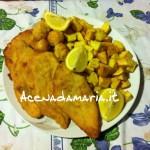 Petto di pollo impanato con patate