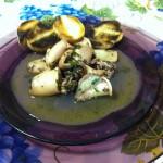 Calamaretti affogati nel vino bianco